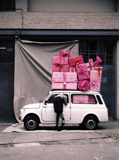 carro com comprar cor de rosa