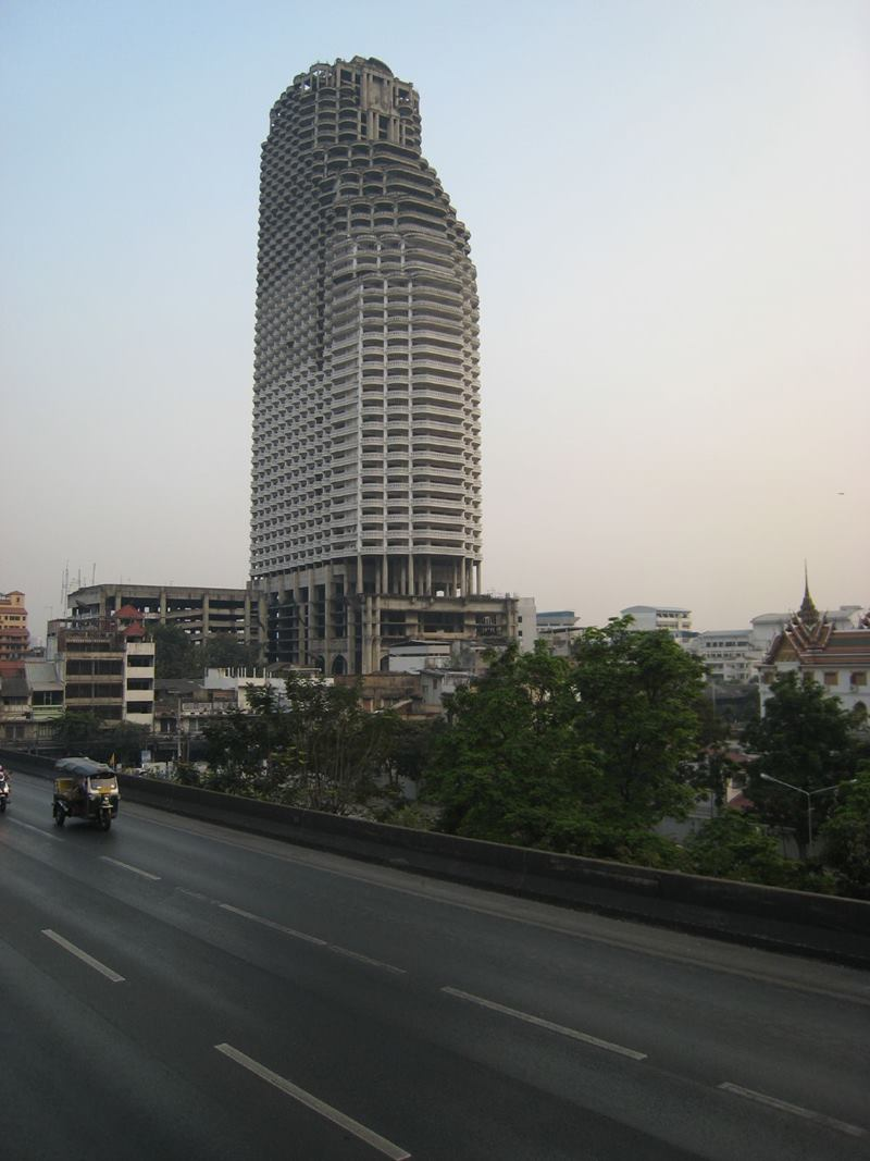 "The Sathorn Unique, A skyscraper of unfinished 49-storey ""ghost tower"" is a very different kind of attraction of Bangkok."