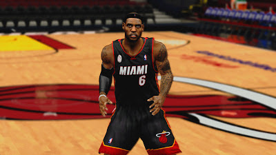 "NBA 2K13 Miami Heat Away Jersey with ""MIAMI"" logo"