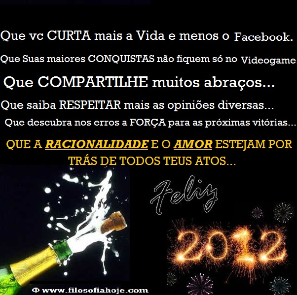 imagem feliz ano novo 2012 champanhe fogos texto