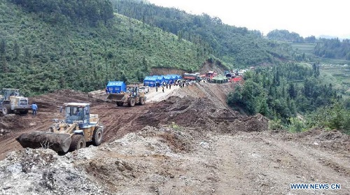 china landslide photo