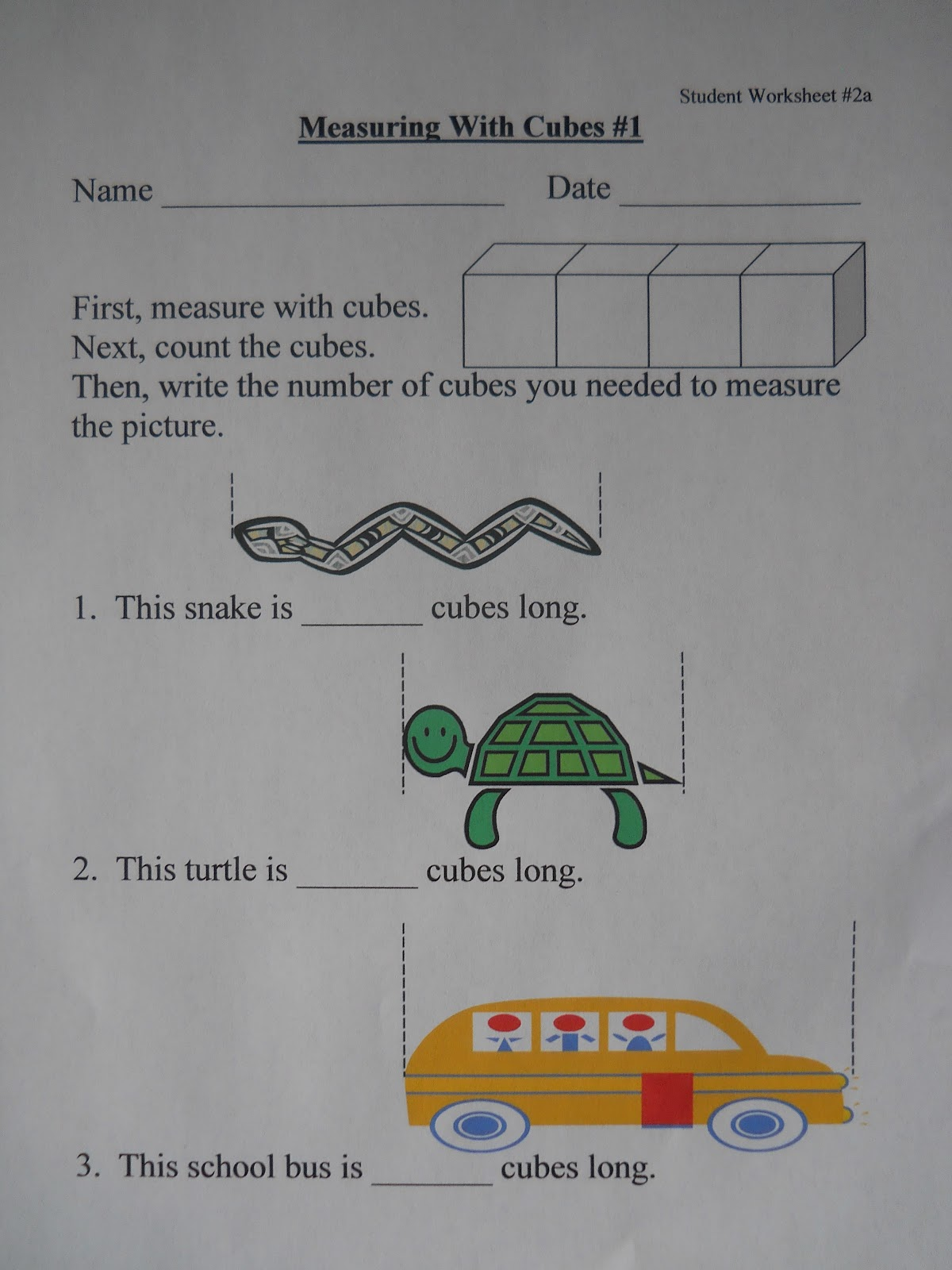 Mrs Ts First Grade Class NonStandard Measurement – Non Standard Measurement Worksheets