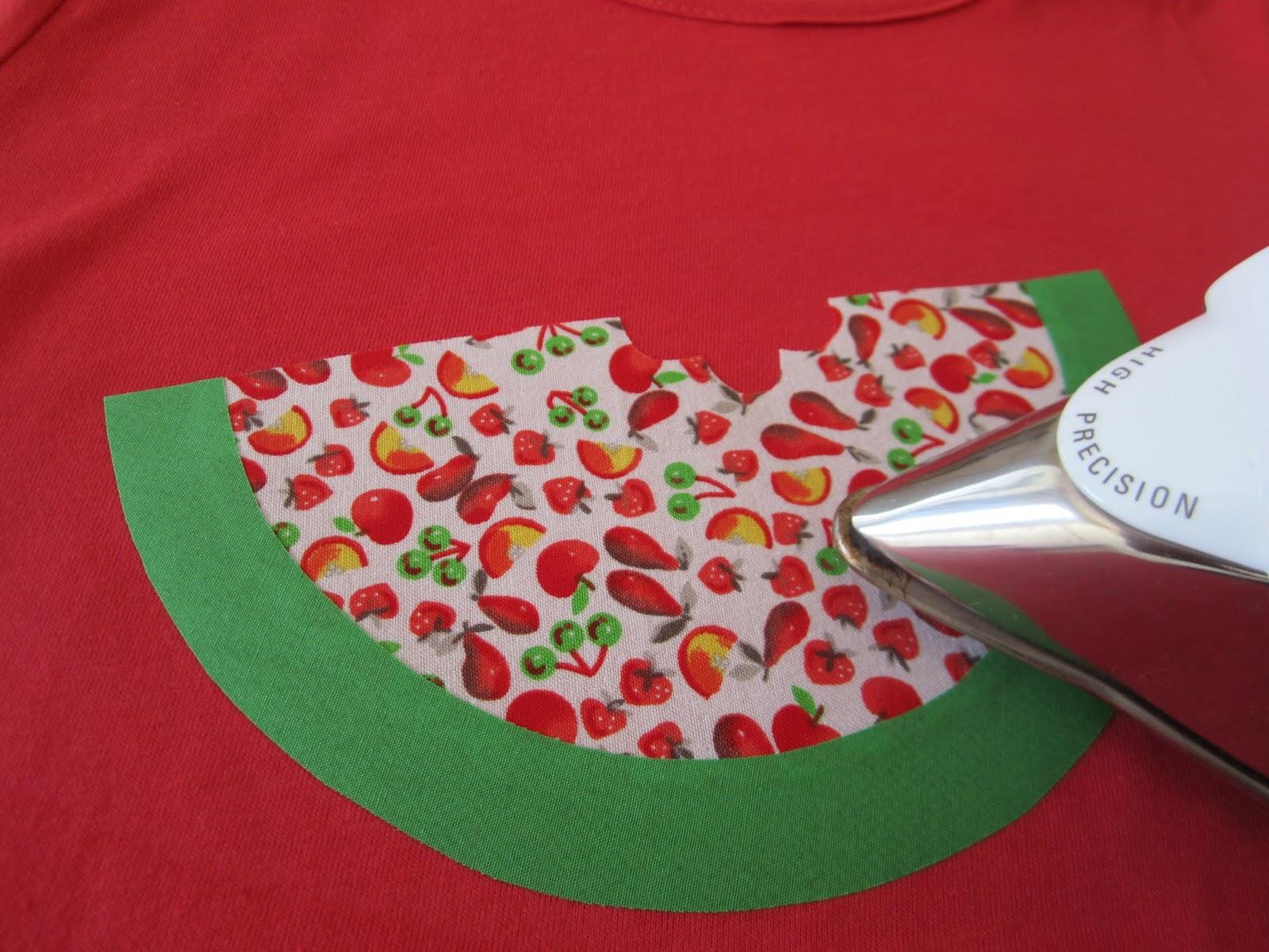 mis nancys, mis peques y yo, tutorial aplique camiseta sandia piezas planchar