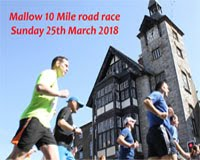 Mallow 10 mile road race - CLOSED - Sun 25th Mar 2018