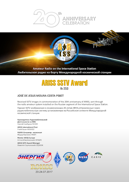 ARISS SSTV Award 20º