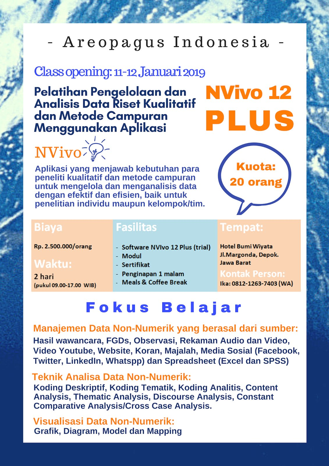 NVIVO 12 PLUS REGULAR CLASS