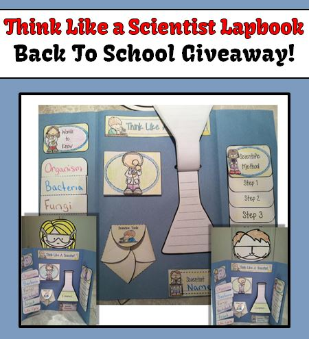 Fern Smith's Classroom Ideas Giveaway - Science Lap Book: Think Like a Scientist!