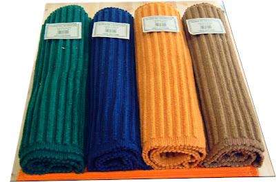 Tappeto cucina arancione blu verde 100 % cotone