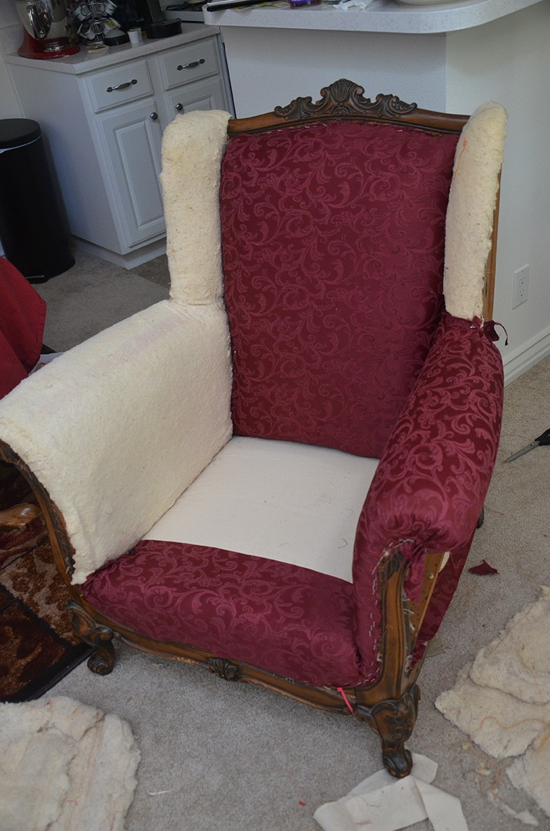 the adventures of mrs mayfield how to reupholster an antique wingback armchair