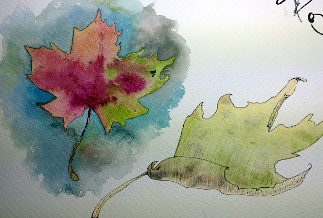 Sketches: PLAYING WITH THE AUTUMN COLOURS by Elizabeth Casua, tHE 33ZTH oRDER Watercolour paintings / artwork