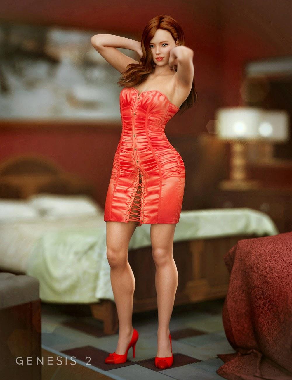 Séduisante Robe Corset pour Genesis 2 Femme