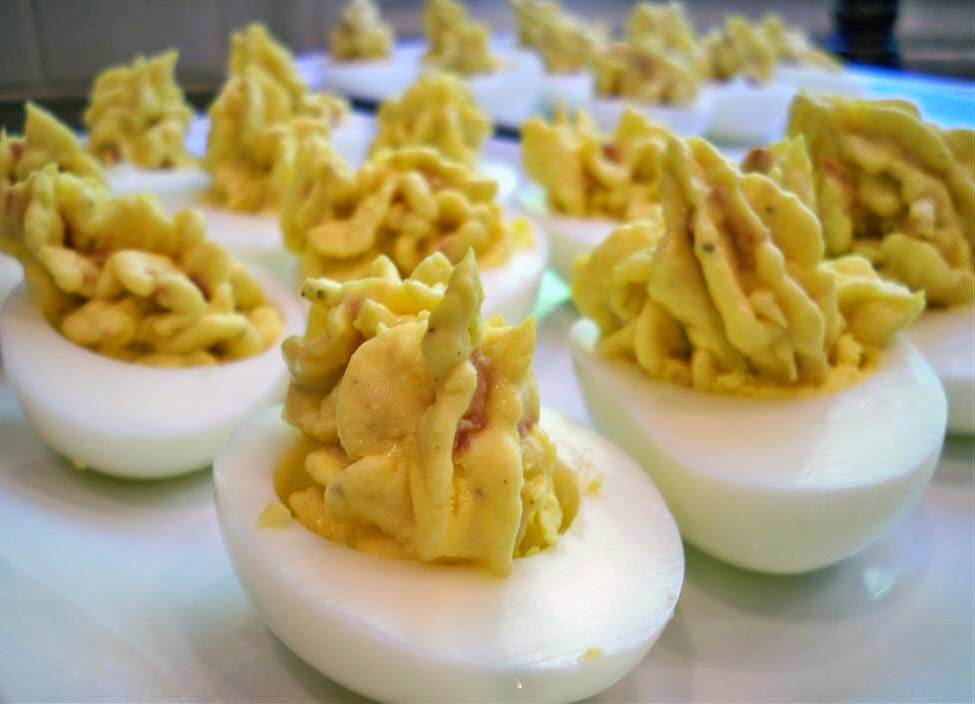 Balsamic Bacon Deviled Eggs