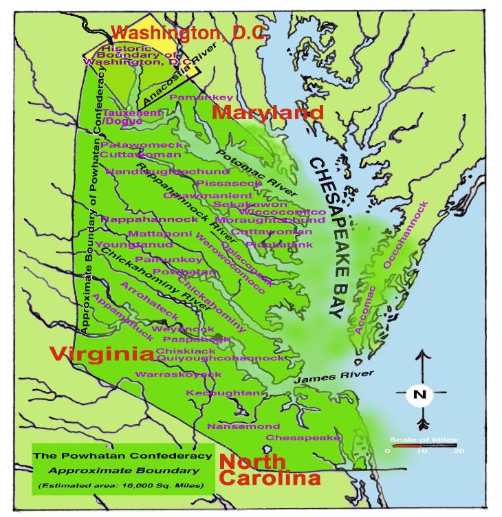 Jamestown Adventurers Powhatan River In 1607