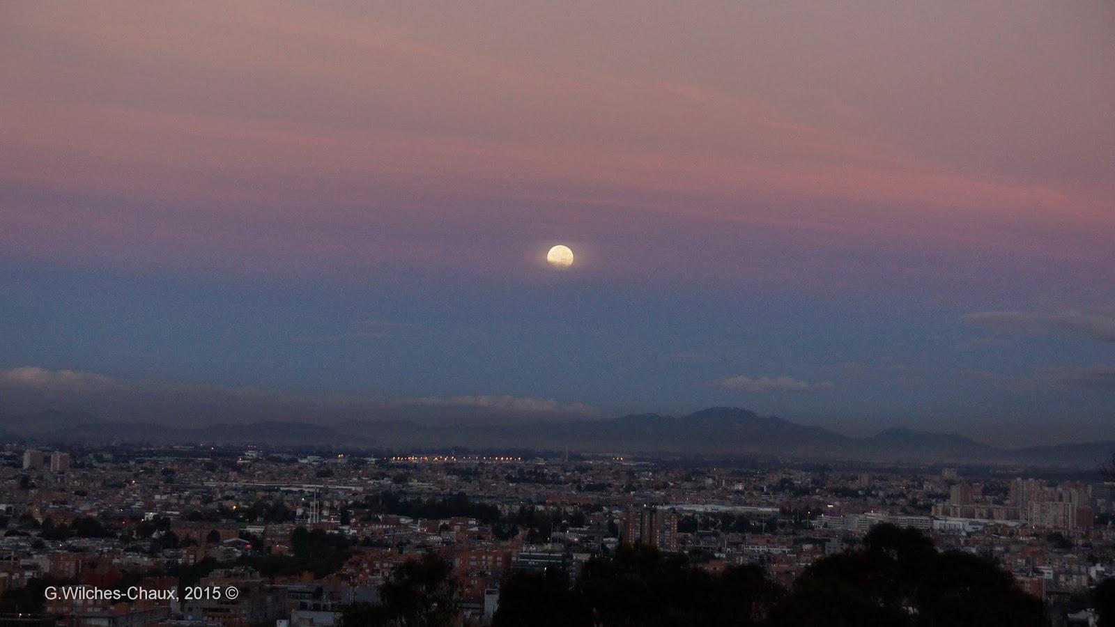 Teofan as la puesta de luna en el amanecer de hoy en bogot for En q luna estamos hoy