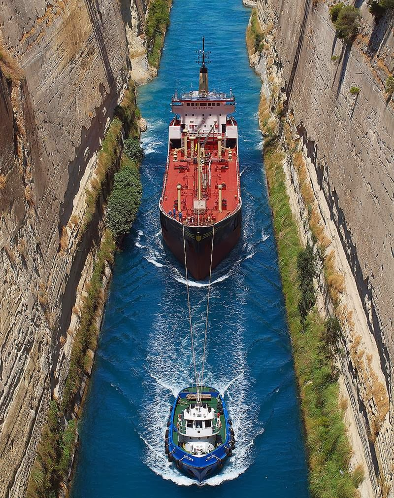 The narrowest ship channel in the world