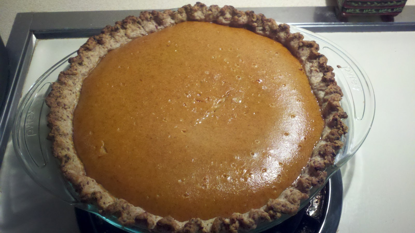 Chicken Soup for the Bowl: Spiced Pumpkin Custard Pie