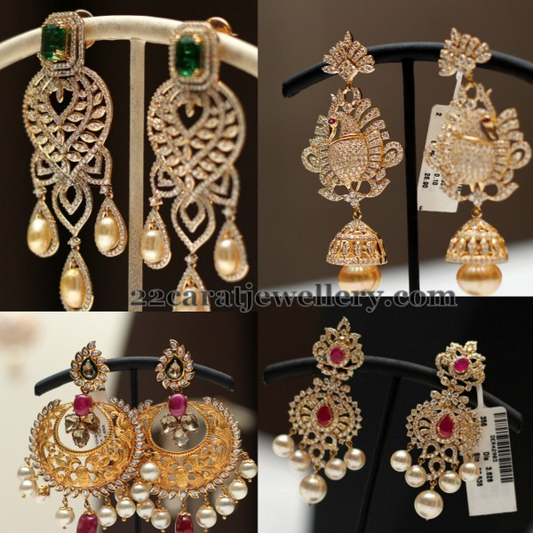 Exclusive Diamond Jhumkas by Srikrishna Jewels