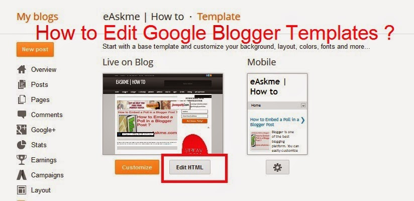 How to edit google blogger templates for Editable blogger templates free