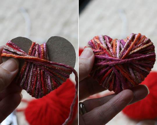 corazones de lana