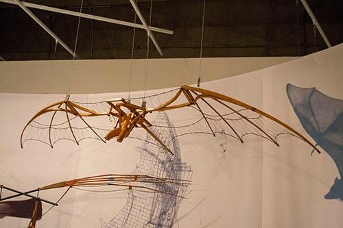 Asa para vôo humano projetado por Leonardo da Vinci