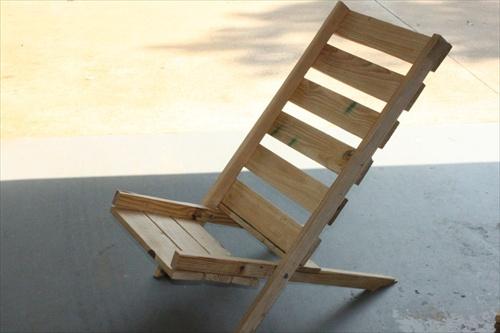 Pallet Folding Chair Plans