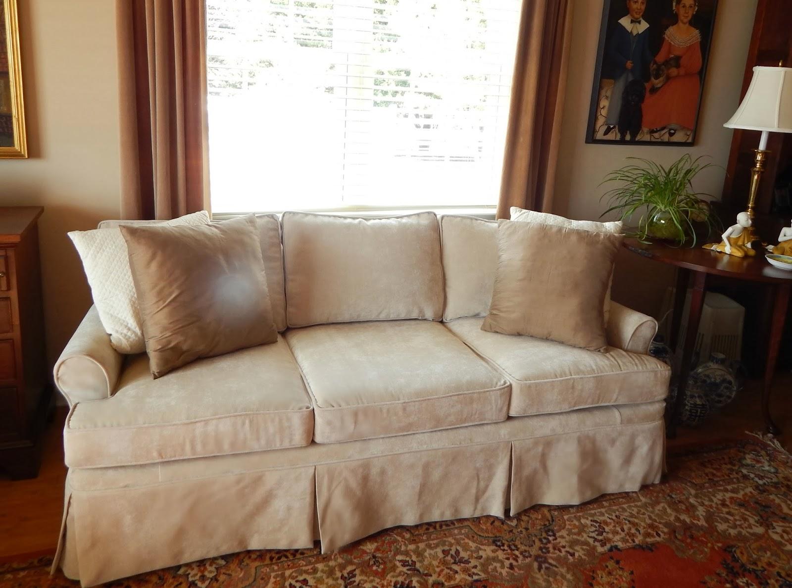Pam Morris Sews: Velvet Sofa Slipcover