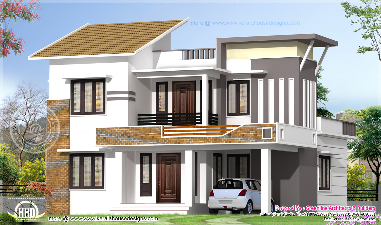 2035 Square Feet Modern 4 Bedroom House Exterior KERALA