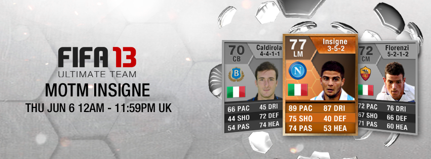 FUT 13 Orange MOTM Lorenzo Insigne 77 – FIFA 13 Ultimate Team