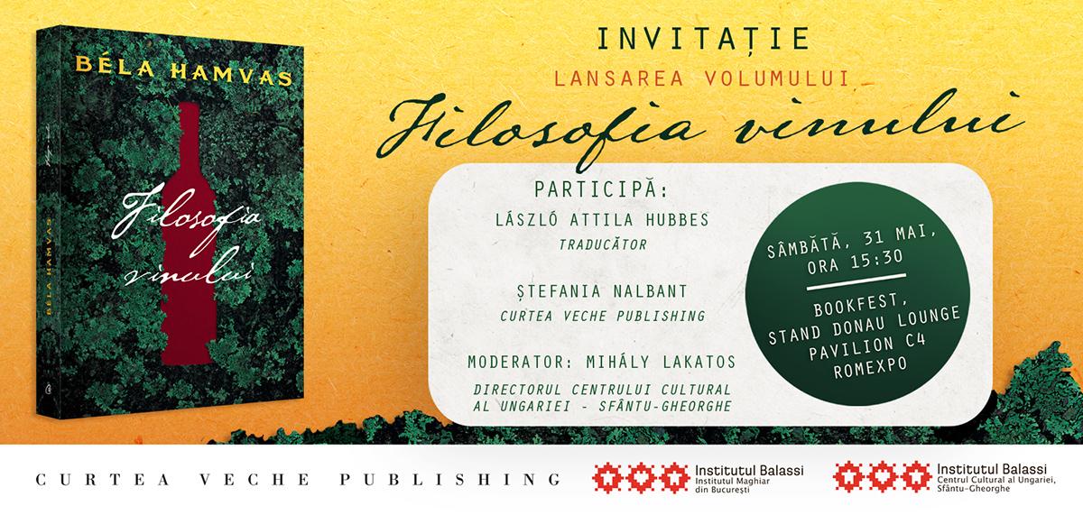 A bor filozófiája, Bookfest, Béla Hamvas, Filosofia vinului, Hubbes László Attila,