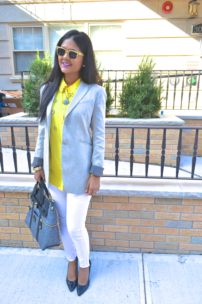 Yellow and grey Astoria in Heels