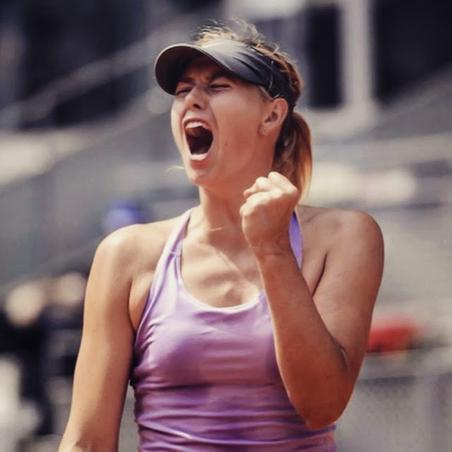 """First win of 2015"", Maria Sharapova described her full glory by simply."