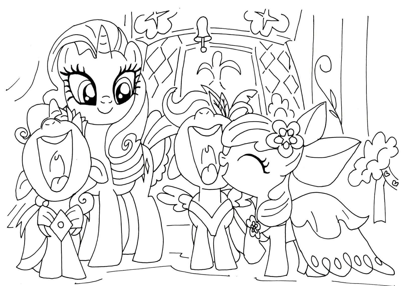 my little pony friendship is magic coloring pages equestria girls