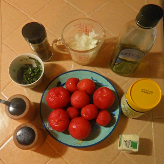 Ingredients for Tomato Soup with Options