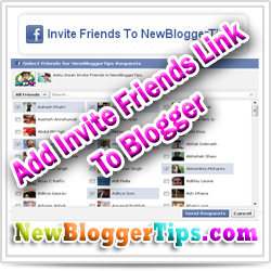 Add Invite FaceBook Friends link In Blogger