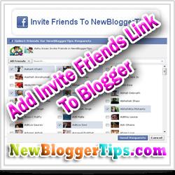 Add Invite FaceBook Friends link In Blogger