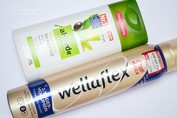 alverde Volumen-Shampoo Wella Wellaflex 2-Tages-Volumen Schaumfestiger