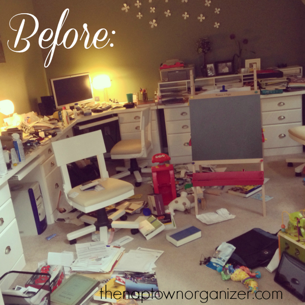before and after office organization