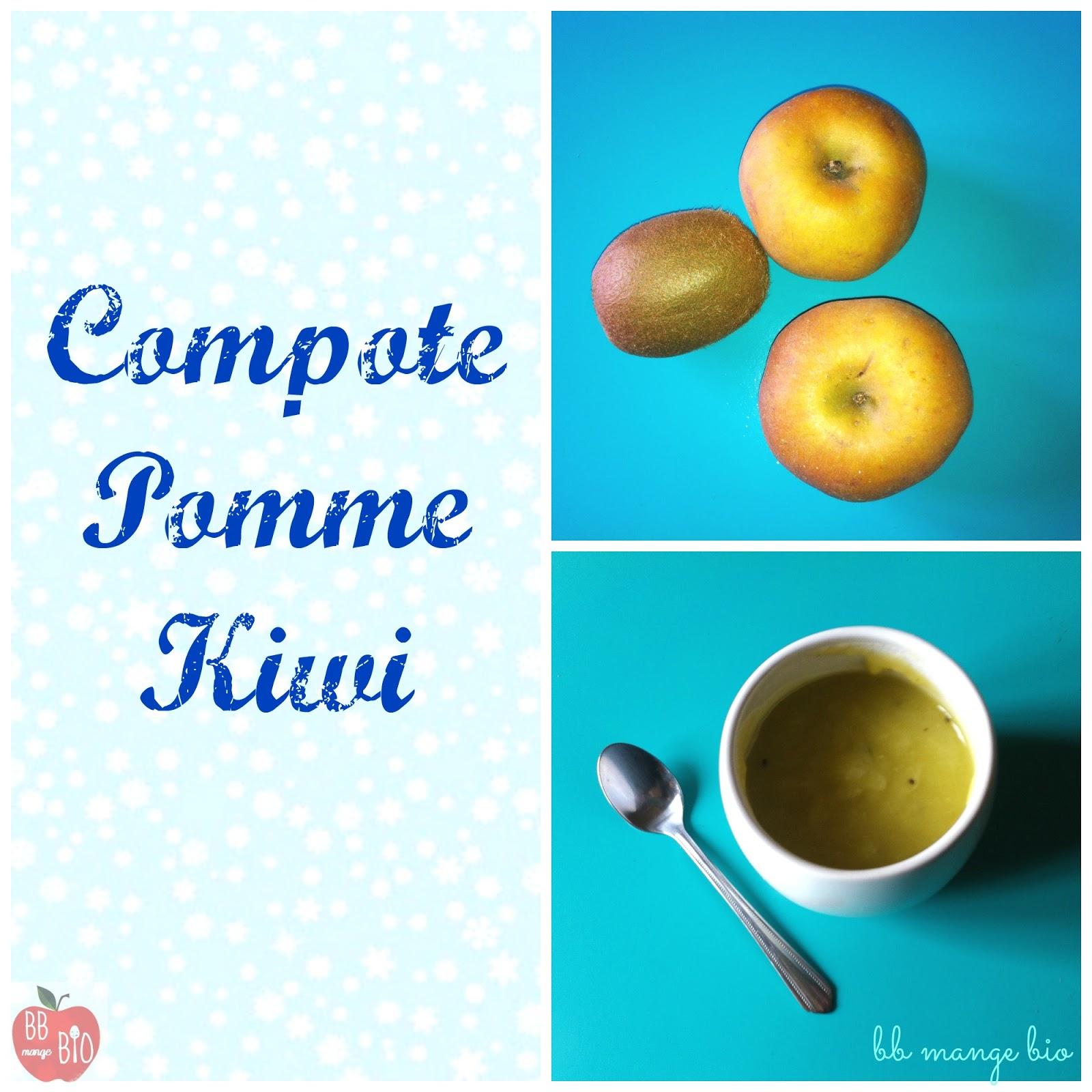 recette de compote de pomme et kiwi