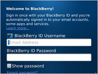 Cara Reset Password Blackberry AppWorld