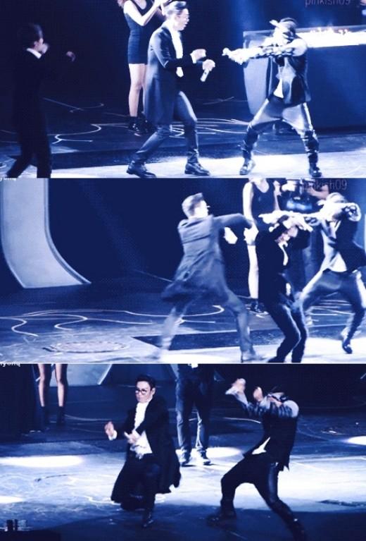 T.O.P & taeyang Dance Battle Komedi