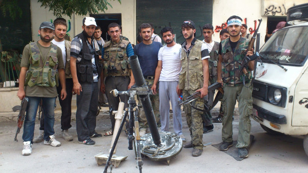 Turkey Attempts to Trigger War Vs. Syria Syrian FSA Terrorists Mortars2
