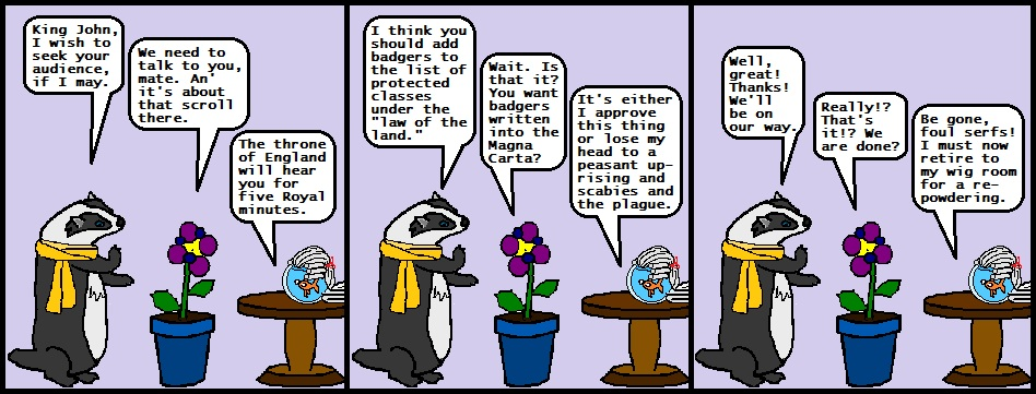 All Too Easy Illiterate Badger web comic