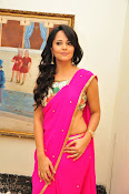 Anasuya dazzling saree photos-thumbnail-6