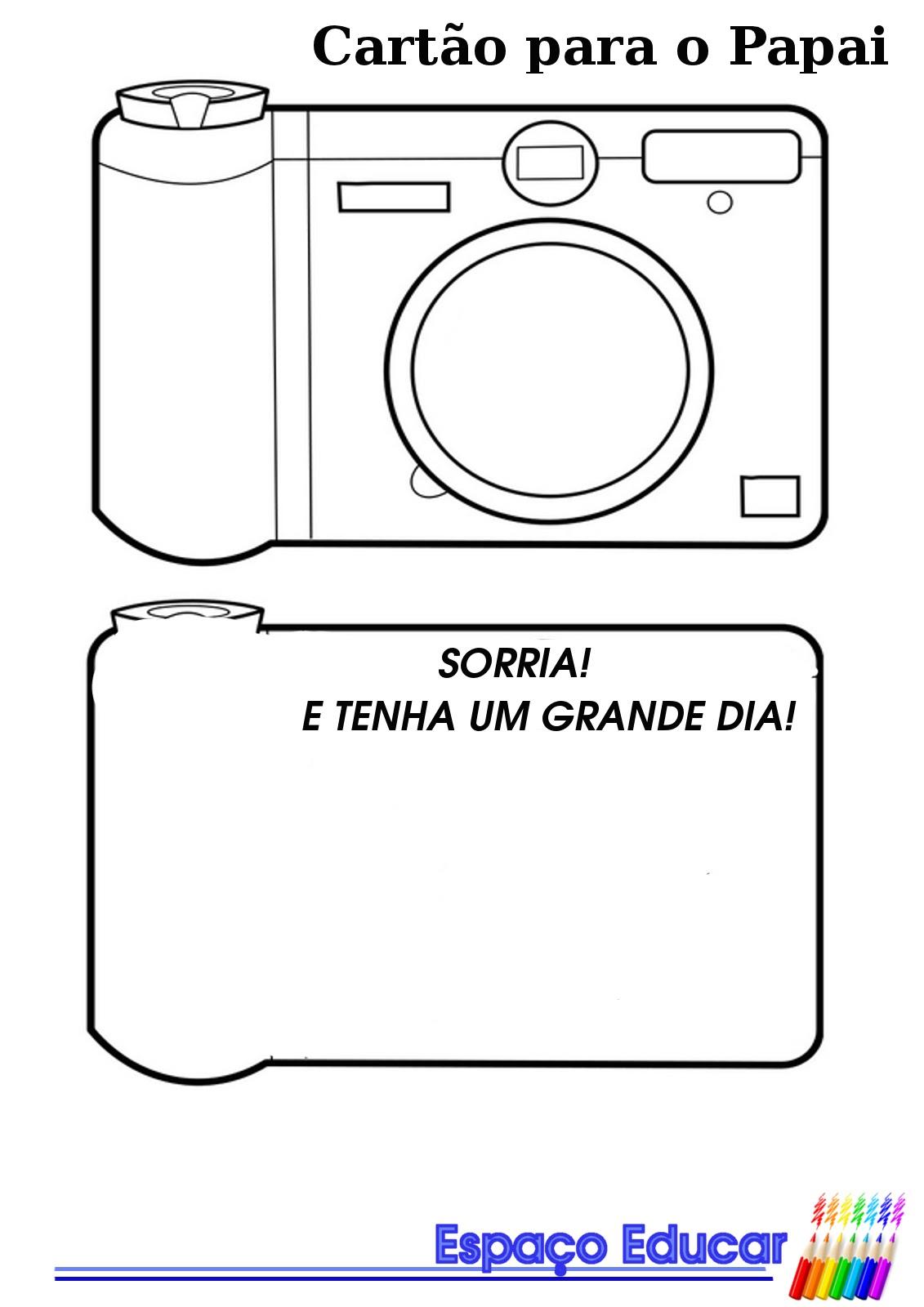 Cartão para o Dia dos Pais modelo máquina fotográfica! - ESPAÇO