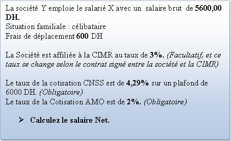Calcul salaire maroc