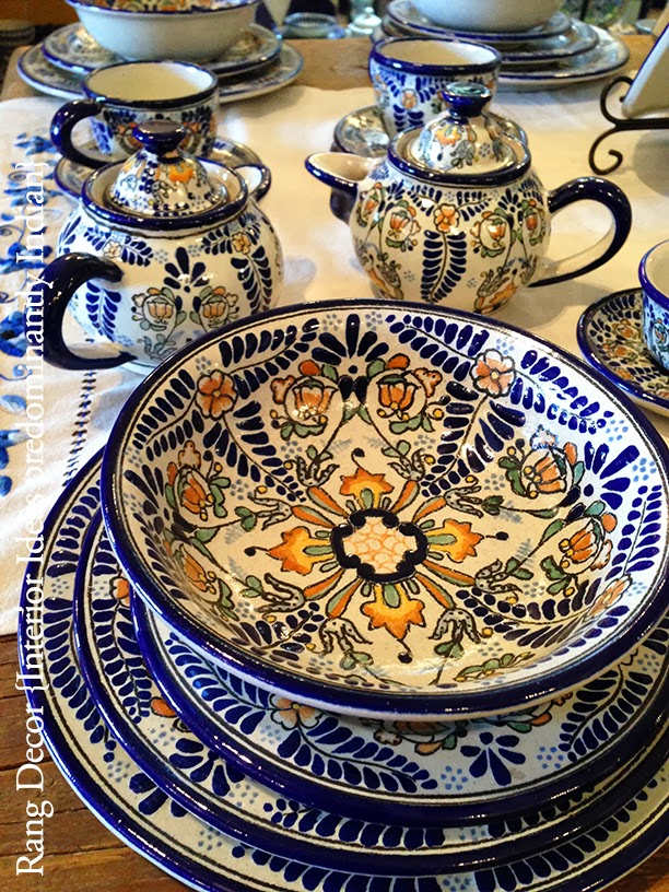 Rang decor interior ideas predominantly indian talavera for Azulejo de talavera mexico