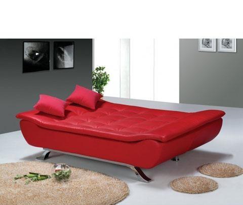 Kirmizi+renkli,+rahat+yatakli+kanepe Yeni Sezon Yataklı Kanepe Modelleri