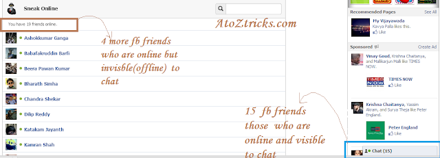 Who is online even someone kept offline on facebook chat