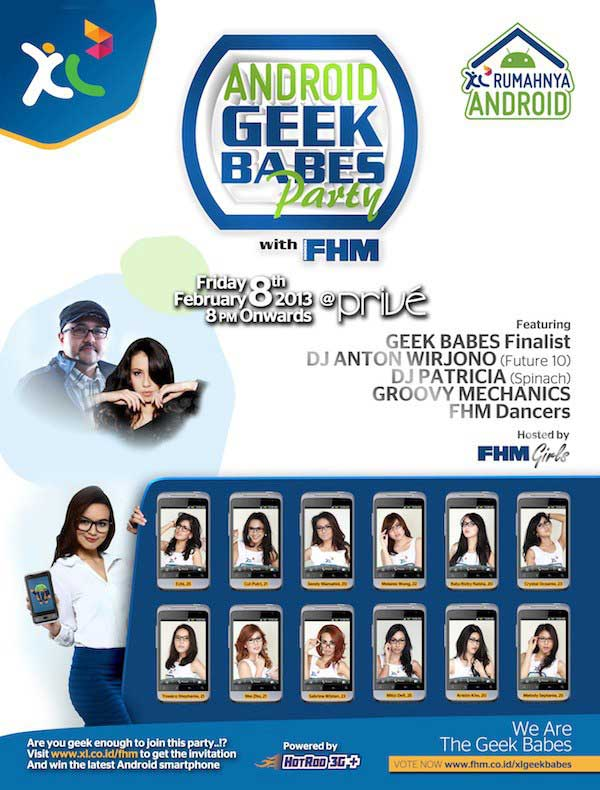XL Geek Babes Party with FHM