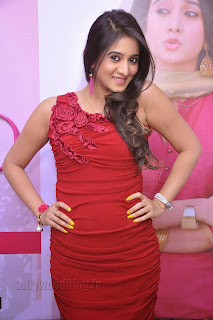 Harshika Pooncha latest Pictures in red 011.jpg